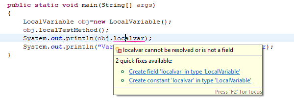 Local Variable Errror