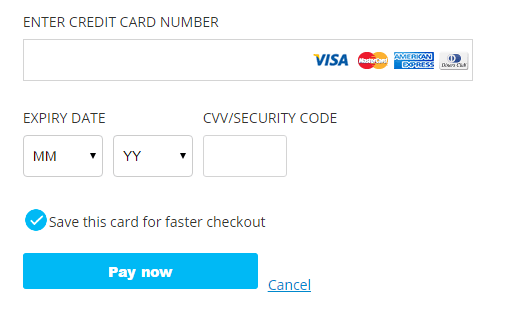 Credit Card Text Field Test Case