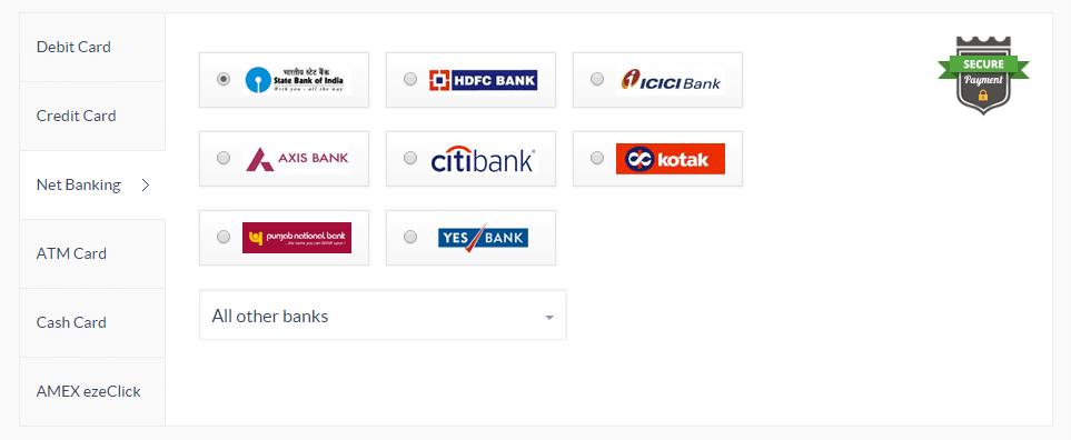 Netbanking Payment Gateway