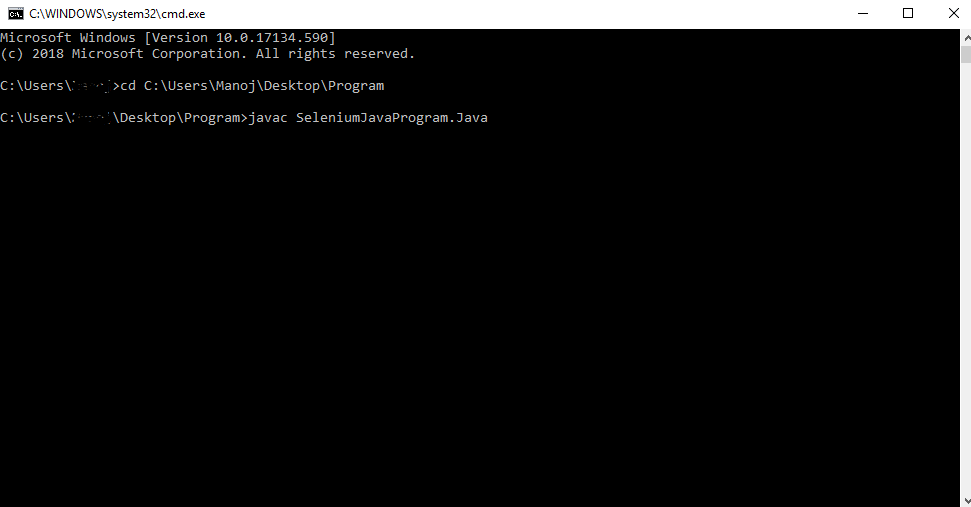 Compile In Java Command Prompt