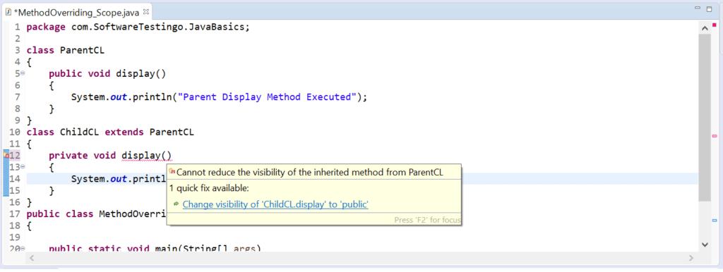 Method Scope Error