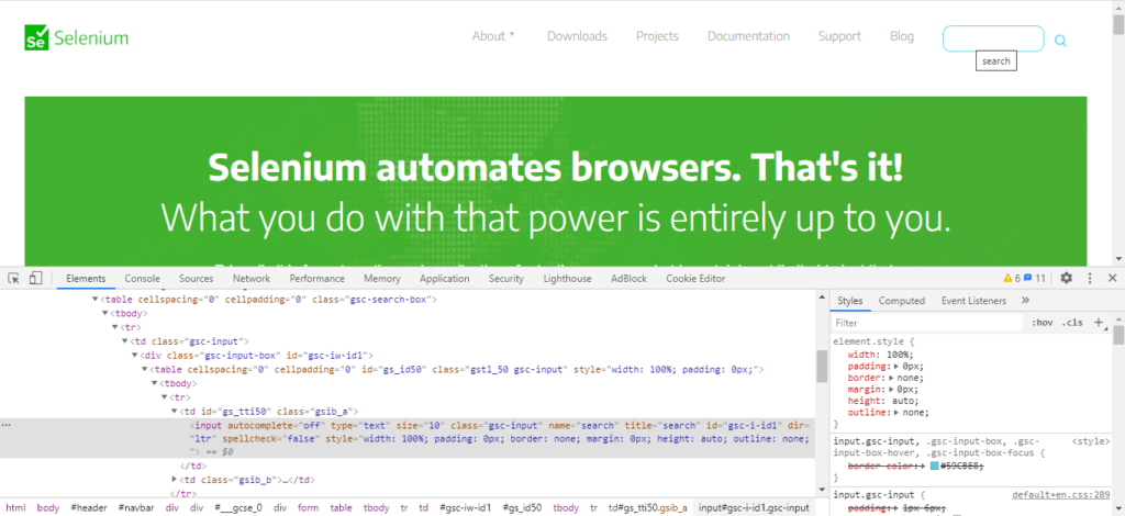 Selenium Tooltip Text with Title