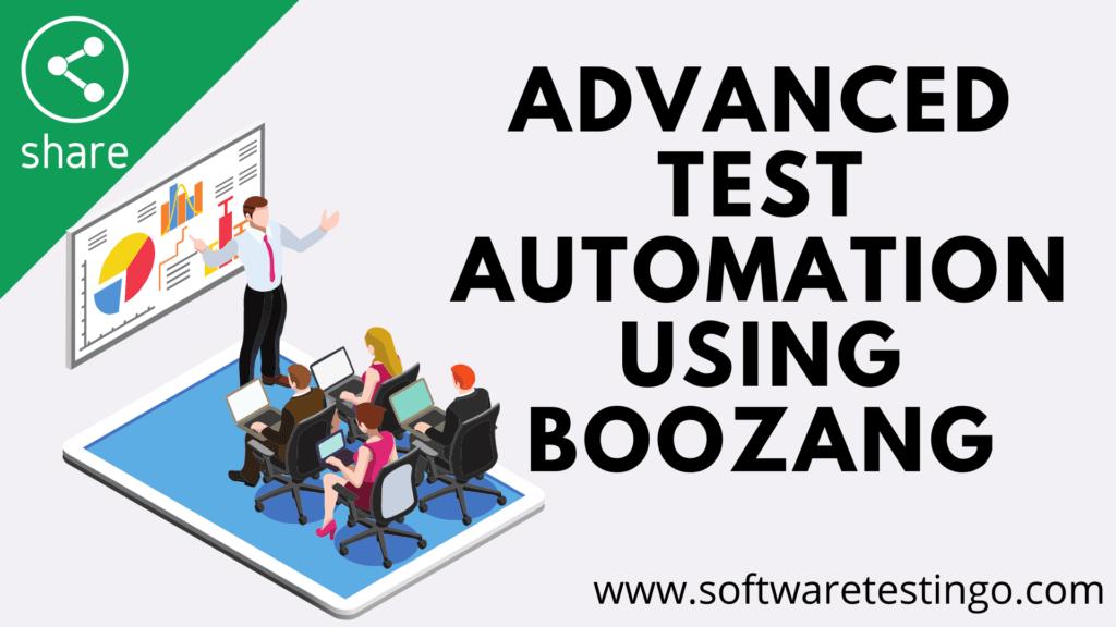 Advanced Test Automation using Boozang