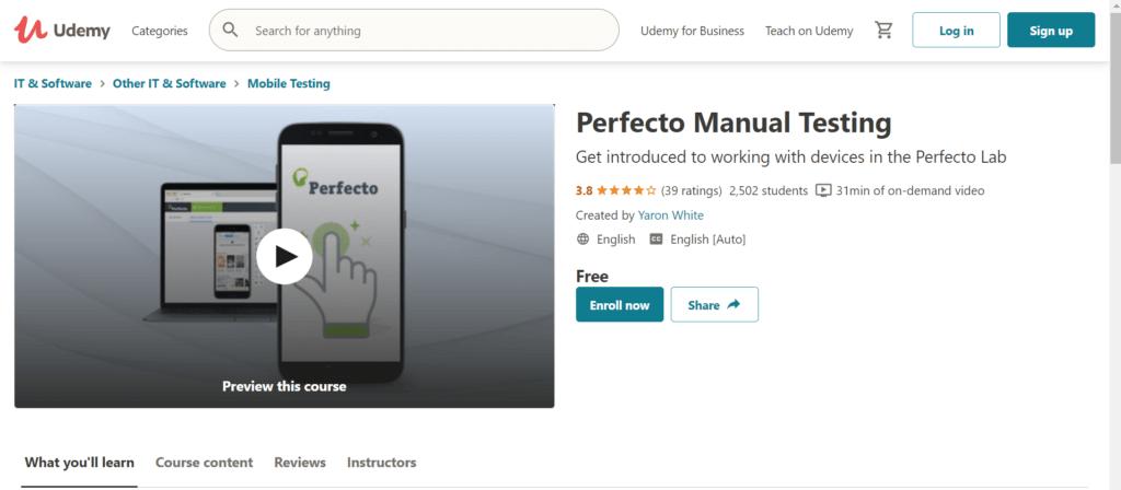 Perfecto Manual Testing