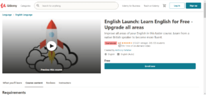 English Launch: Learn English for Free - Upgrade all areas 1