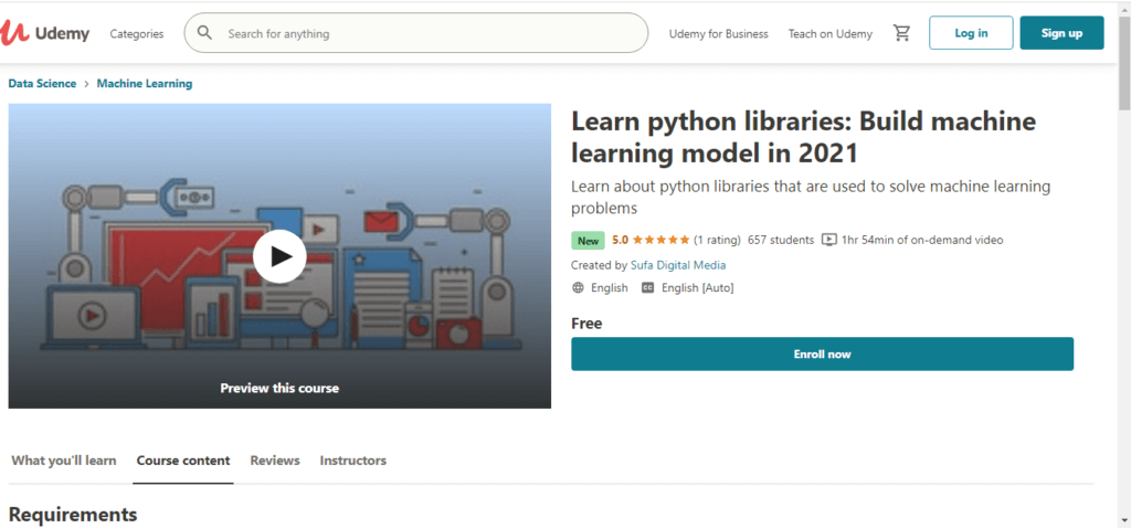 Learn python libraries: Build machine learning model in 2021