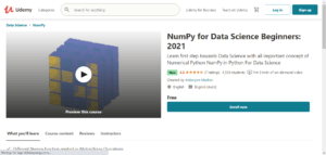 NumPy for Data Science Beginners: 2021 1