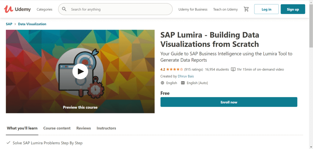 SAP Lumira - Building Data Visualizations from Scratch