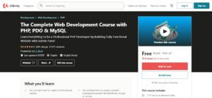 The Complete Web Development Course with PHP, PDO & MySQL 1