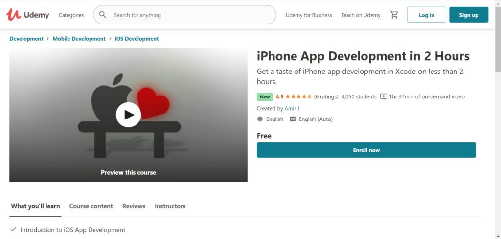 iPhone App Development in 2 Hours